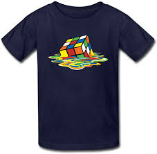 Spreadshirt Design Size Melting Rubiks Cube Kids T Shirt