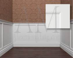 flat panel 3 wainscoting