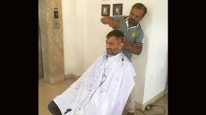 Ms Dhoni Dons New Hair Cut After Virat Kohli Pics Goes Viral