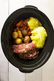 homemade corned beef and cabbage crock