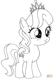 Simple My Little Pony Coloring Pages With Diamond Tiara Page Free