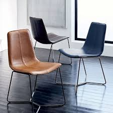 brown dining chairs. Slope Leather Dining Chair West Elm Within Brown Plans 1 Chairs
