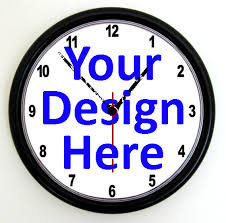 office clock wall. CUSTOM PROMOTIONAL CLOCK - Personalised Wall Clock , Business Logo Office Photo