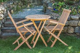 outdoor table and chairs folding. 60cm Round 2 Seater Solid Teak Folding Patio Table And Arm Chair Set Outdoor Chairs E
