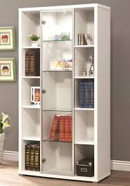 narrow bookcase with doors bookcase with glass doors narrow bookcase doors