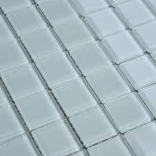white crystal glass mosaic tile design kitchen backsplash bathroom wall floor stickers