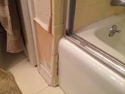 repair water damage to wall near bathtub rose creek journey pertaining to water damage behind