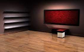3D Empty Room Desktop Wallpaper ...
