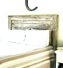 Distressed Wood Bed Frame Weathered Headboard Reclaimed King Size ...