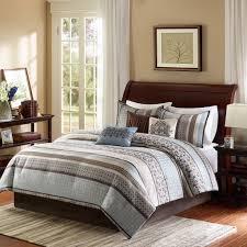 Amazon.com: Madison Park Princeton Queen Size Bed Comforter Set Bed In A  Bag   Teal, Jacquard Patterned Striped U2013 7 Pieces Bedding Sets U2013 Ultra Soft  ...