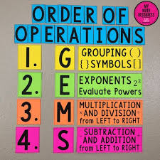 Order Of Operations Anchor Chart List Of Order Of Operations Anchor Chart Gems Pictures And