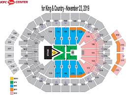 Yum Center Detailed Seating Chart For King Country Burn The Ships Kfc Yum Center