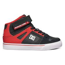 dc shoes high tops red and black. dc shoes spartan high ev shoe boys sneakers black / red kids´,dc tops and