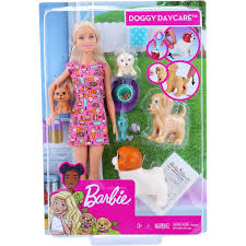 barbie doggy daycare doll pet play set