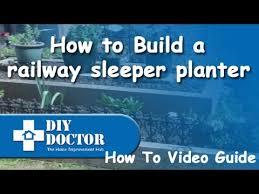 railway sleeper planter or flower bed