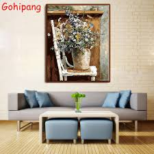 gohipang diy framed painting by numbers oil canvas wall art pictures flower scenery decor posters for on number canvas wall art with gohipang diy framed painting by numbers oil canvas wall art pictures