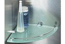 Glass Corner Shelves Uk Xenon Frosted Glass Corner Shelf SDS London 12