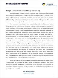 Comparison And Contrast Essays 015 Comparing And Contrasting Essay Example Comparative