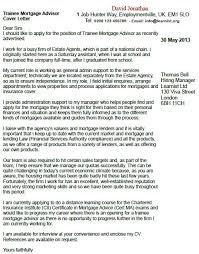 Trainee Mortgage Advisor Cover Letter Example Learnist Org