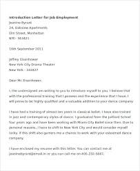 Sample Introductory Letters Letter Of Introduction For Job 6 Free Word Pdf Documents