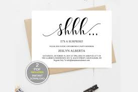 Surprise Party Invitation Template Shhh Birthday Dad_25