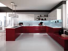 red high gloss kitchen cabinets doors