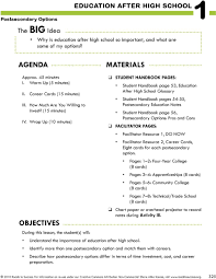 Objectives The Big Idea Why Is Education After High School