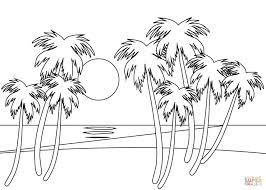 Small Picture Tropical beach coloring page Free Printable Coloring Pages