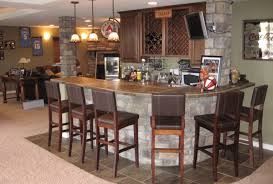bar Basement Bars With Stone Room Design Decor Luxury With