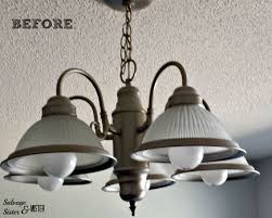 into lighting. Turning A Standard Light Fixture Into Faux Crystal Chandelier. Www.salvagesisterandmister.com Lighting S