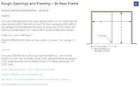 rough door opening framing door opening bi pass frame rough opening image framing closet door