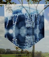 Scheibenhänger Eisgrotte Transparent