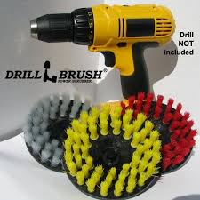 brush drill. tile and grout bathroom, floor 3 drill brush cleaning kit