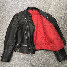 mens vintage style leather biker style jacket punk perfecto