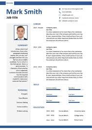 Modern Curriculum Vitae Format Clean Resume Cv Template Modern