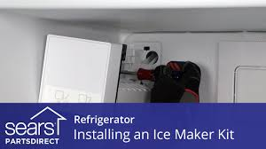 How To Level A Kenmore Refrigerator How To Install A Refrigerator Ice Maker Kit Youtube