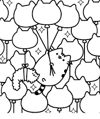 Free Pusheen Cat Coloring Pages 49 Images Super Coloring Page