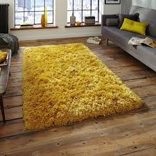 mustard yellow rug. Polar PL95 Shaggy Rugs In Yellow - Free UK Delivery The Rug Seller Mustard O