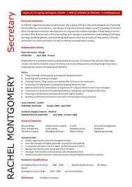 Secretary Resume Templates Impressive A Uniquely Designed Secretary Resume That Will Quickly Highlight To