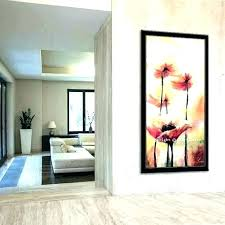 tall wall art narrow canvas thin metal co for idea decor ideas ceilings t