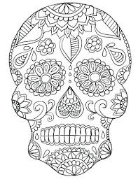 Day Of The Dead Coloring Page Day Of The Dead Skull Coloring Pages