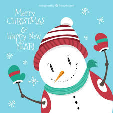 Free Christmas Greetings Snowman Christmas Greetings Card Vector Free Download