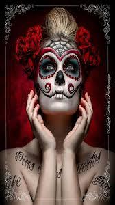 carina sugar skull makeupsugar