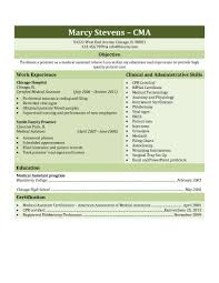 Resume Examples For Medical Assistant Awesome 48 Free Medical Assistant Resume Templates