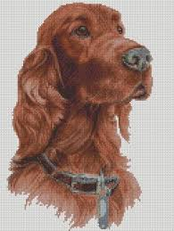 Irish Setter Width Chart Cross Stitch Chart Kit Irish Setter Dog Whistler Cross