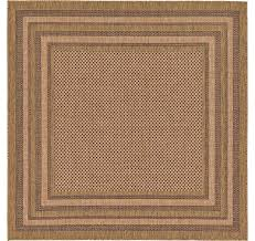6 x 6 outdoor border square rug