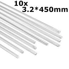 10pcs 450mm aluminum alloy silver welding rods tools for s polish paint
