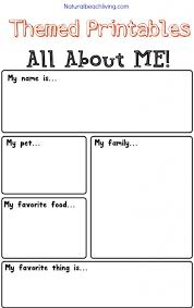 Kindergarten The Best All About Me Activity Theme For Preschool ...