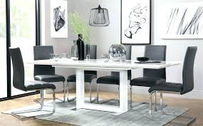 black gloss dining table black gloss dining table white high gloss extending dining table and 6