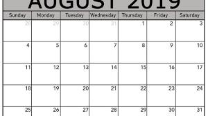 Blank Editable Calendar Free August 2019 Calendar Template Editable Printable Download